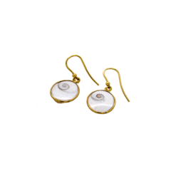 Boucles d'oreilles Oeil de Sainte Lucie dorées