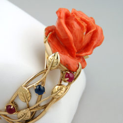 bracelet rose corail or jaune empieré