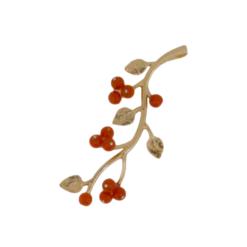 pendentif argent doré fruits rouges corail rouge méditerranée