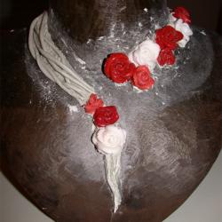 maquette collier histoire de roses corail rouge rose blanc