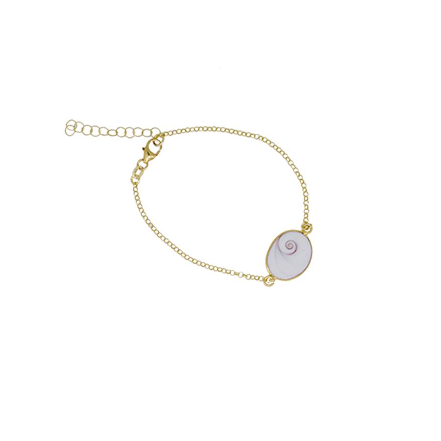 bracelet argent doré oeil de sainte lucie