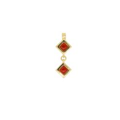 pendentif argent doré corail corse rouge méditerranée