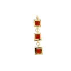 pendentif argent doré carré corail corse rouge méditerranée