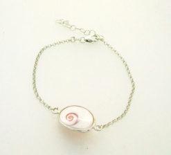 Bracelet Œil de Ste Lucie, argent 925