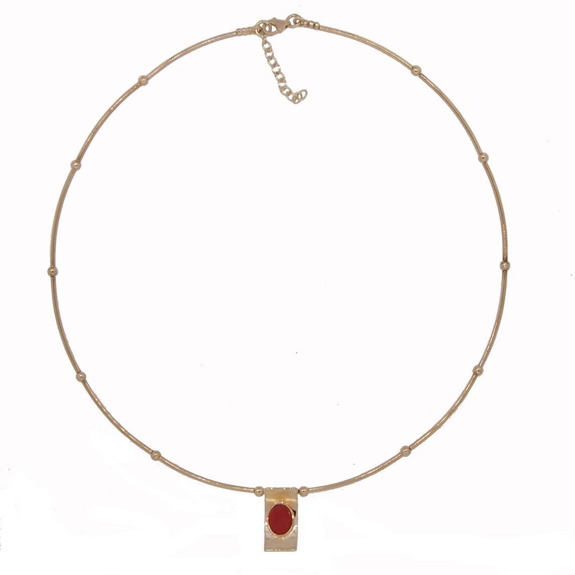 tour de cour tubes et boules argent doré pendentif pagode corail rouge de méditerranée