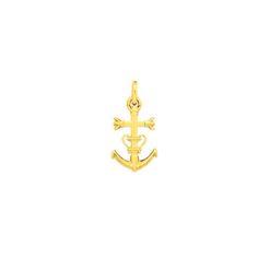 Pendentif croix or jaune camarguaise