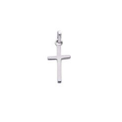 pendentif croix or blanc