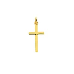 pendentif croix or jaune