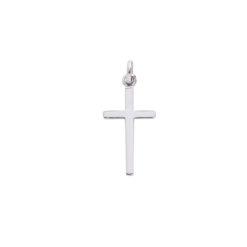 pendentif or blanc croix