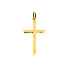 pendentif or jaune croix