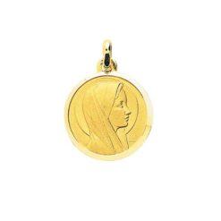 pendentif medaille vierge or jaune