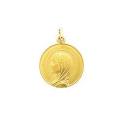 pendentif médaille vierge or jaune 18k