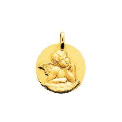 pendentif or jaune médaille ange raphael