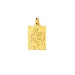 pendentif or jaune de saint christophe