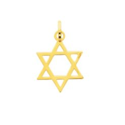Pendentif or jaune 18k étoile de david