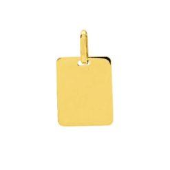 Pendentif or jaune 18k plaque identité