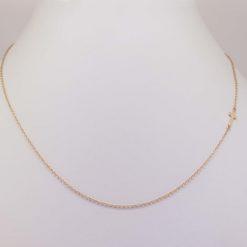 collier chaîne or jaune 18k motif croix