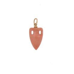 pendentif amphore antique corail rose du japon