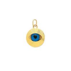 pendentif or jaune oeil grec