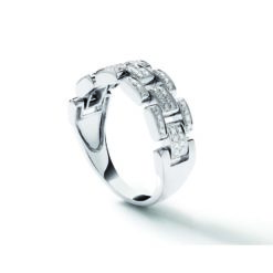 bague or blanc 18 sertie de diamants