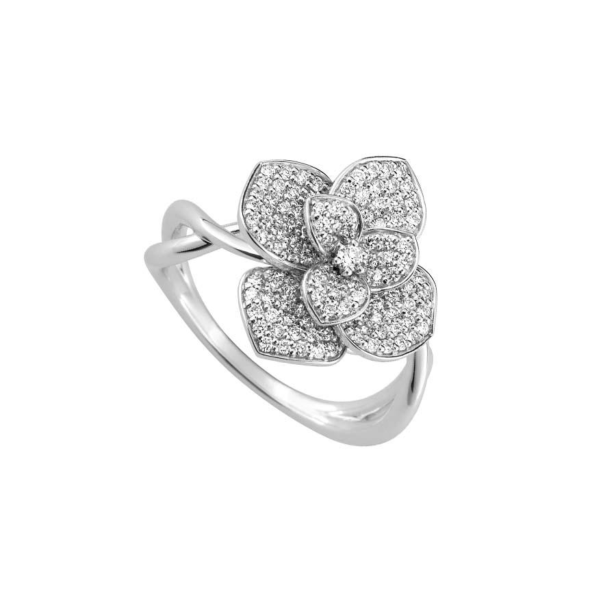 bague diamant fleur