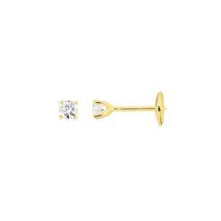boucles d'oreilles or jaune 18k puce diamants