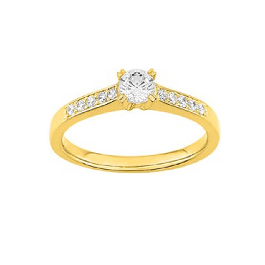 bague solitaire or 18k