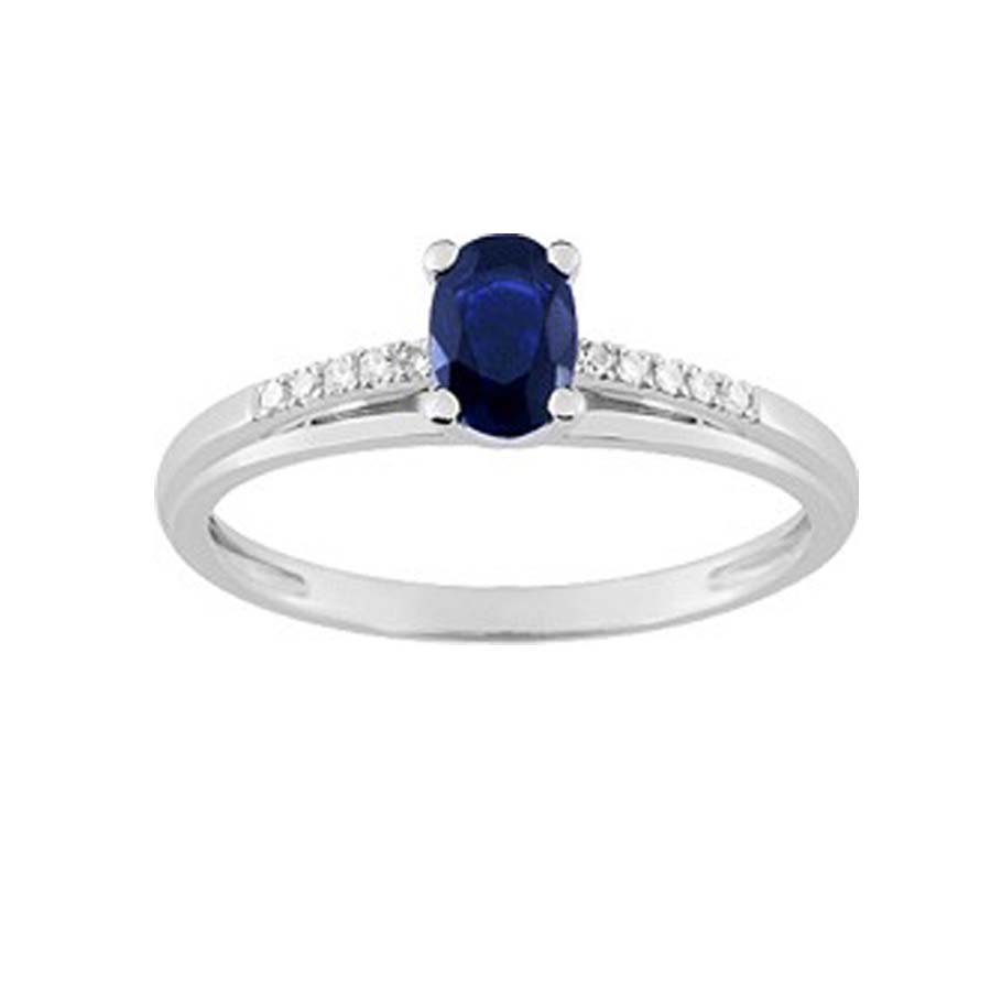 bague or blanc ovale