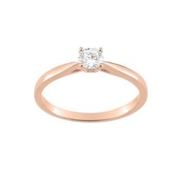 bague or rose 18k solitaire diamants 0.30 carat4 griffes