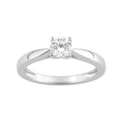 Solitaire diamants bague or blanc 18k