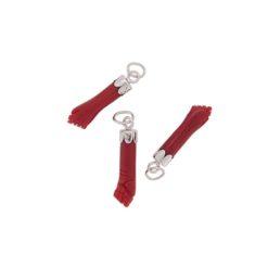 Pendentif main corail rouge méditerranée calotte or blanc 18k pm