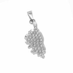 pendentif or blanc 18k ilsula di corsica et diamants