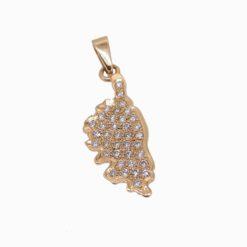 pendentif or jaune 18k ile de Korsika et diamants