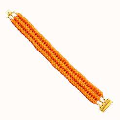 bracelet corail rouge méditerranée sciacca fermoir en or jaune 18k