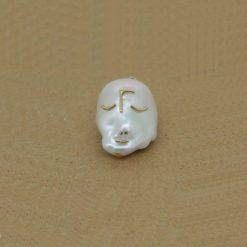 Pendentif perle eau douce sur or jaune 18k