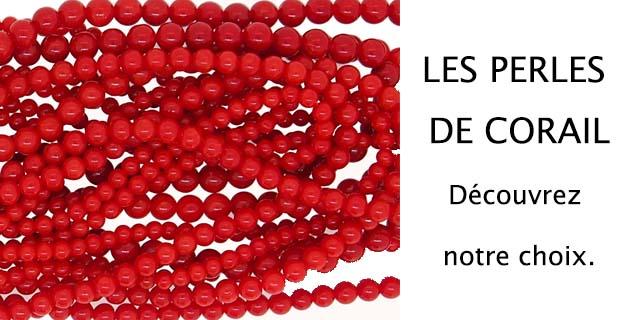 les perles de corail rouge de méditerranée