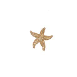 Pendentif tout or jaune 18k étoile de mer