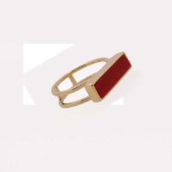 bargue argent doré et baguette corail rouge de méditerranée corse